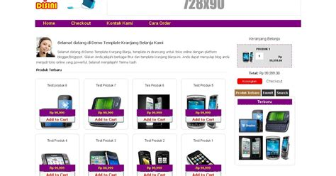 template toko online shopping cart dengan checkout via
