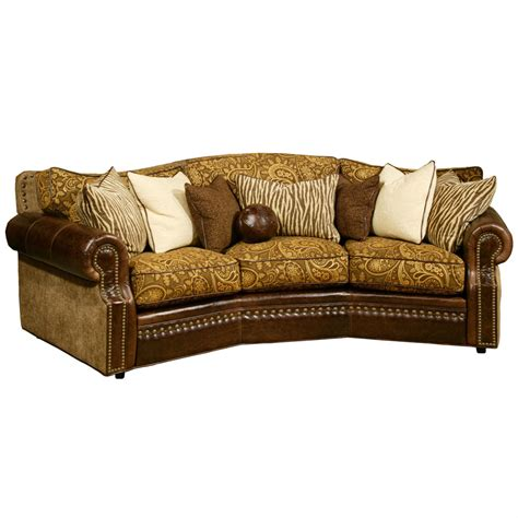 conversation couch cartwright conversation sofa by omnia leather usa made