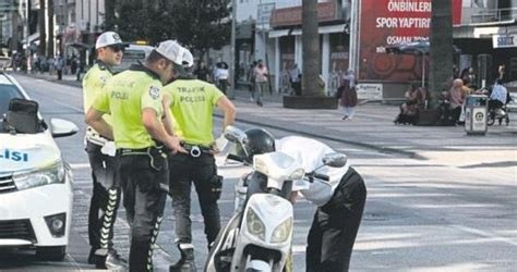 elektrikli bisiklete  bin  lira ceza egeli sabah