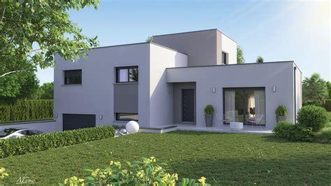 Maison Avec Toit Terrasse 2833 by Maison Design Demi 233 Tage Toit Plat Clara Logivelay