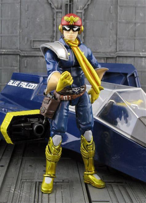 f zero figures f zero s captain falcon with blue falcon hisstank