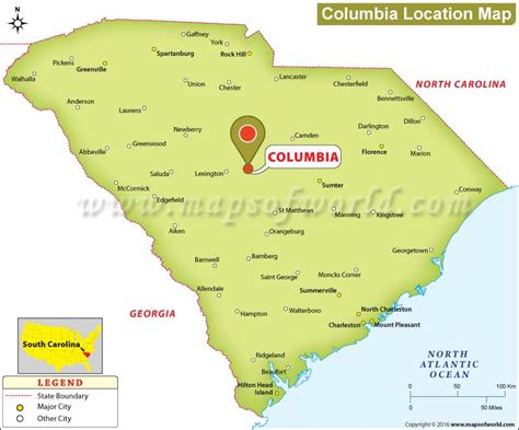 map of columbia where is columbia south carolina