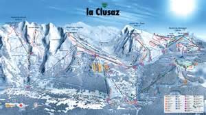la clusaz plan des pistes de ski la clusaz