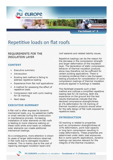load requirements for roofs factsheet 3 repetitive loads on flat roofs requirements