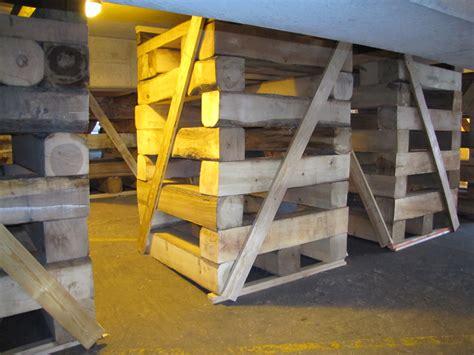 Timber Cribbing by Wood Cribbing Construction Images