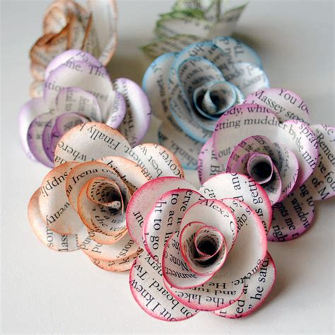 How To Make Book Paper Flowers - paper flowers 21 uses for books popsugar smart living