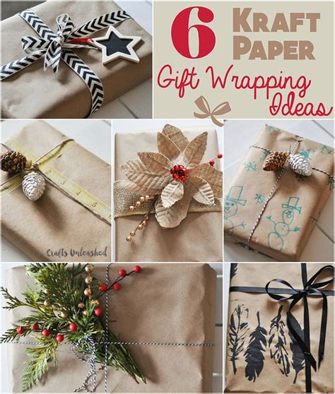 kraft paper crafts gift wrapping ideas 6 ways to use kraft paper
