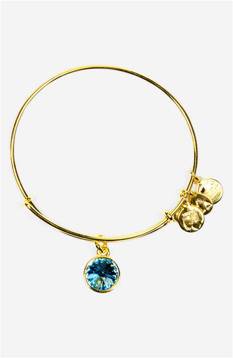 alex and ani birthstone expandable wire bangle in march