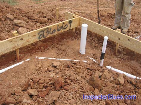 Slab Plumbing by Bad Plumbing Slab Plumbing Pipes In Footing