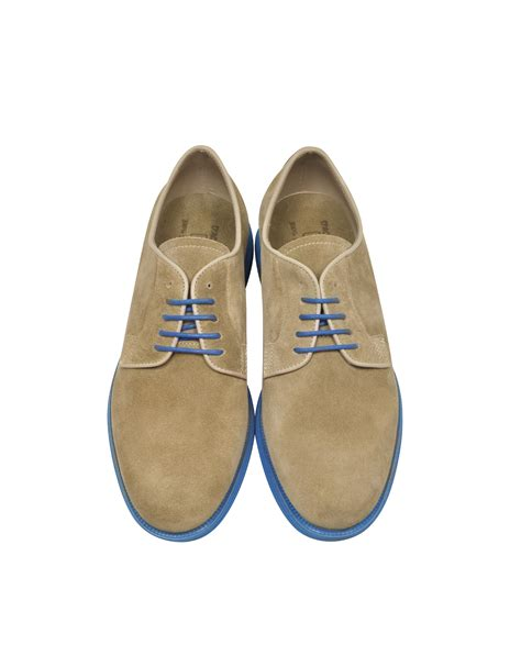 beige oxford shoes d acquasparta beige suede oxford w light blue rubber sole