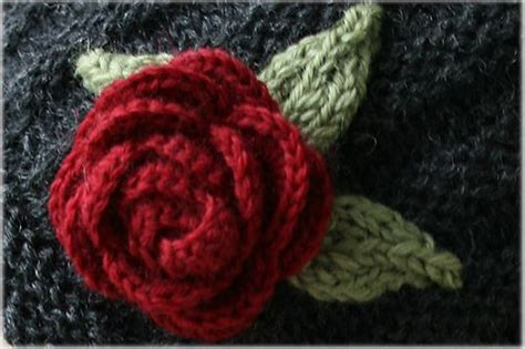 knitting pattern rose 18 best images about knit fowers and foilage on