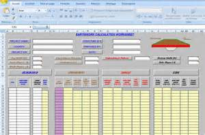 templates in excel earthwork excel template sheet xls civil engineering