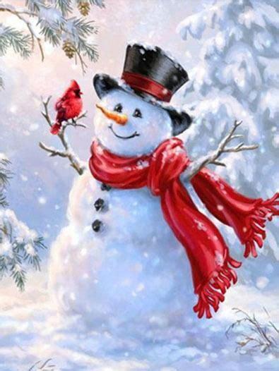 birds pair snow man diamond painting kit snowman images christmas snowman christmas