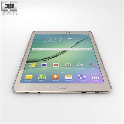 Samsung Galaxy Tab S2 7 9 Gold samsung galaxy tab s2 9 7 inch gold 3d model hum3d
