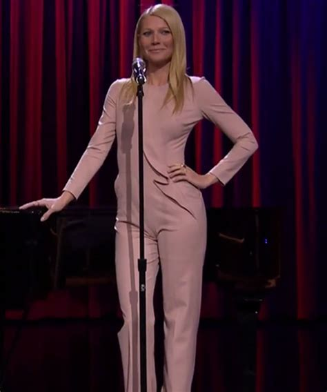 gwyneth paltrow sings broadway versions of rap songs late night tv instyle