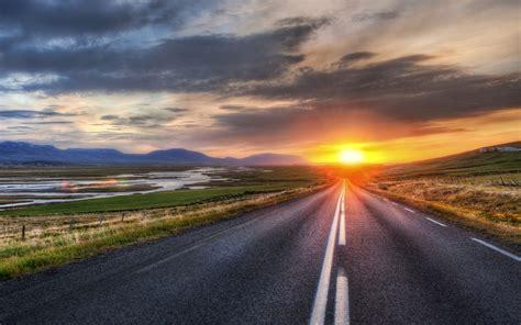 road scenery horizon sunset wallpapers road scenery