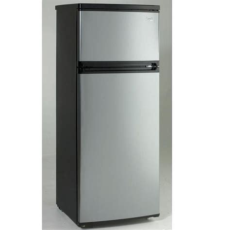 Apartment Size Fridge At The Brick Avanti 7 4 Cf Two Door Apartment Size Refrigerator Black
