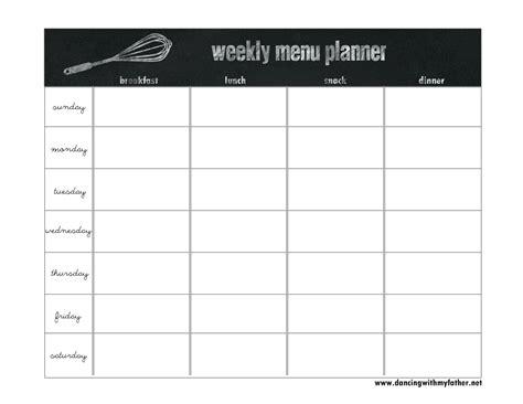 printable menu planner peccadillo us