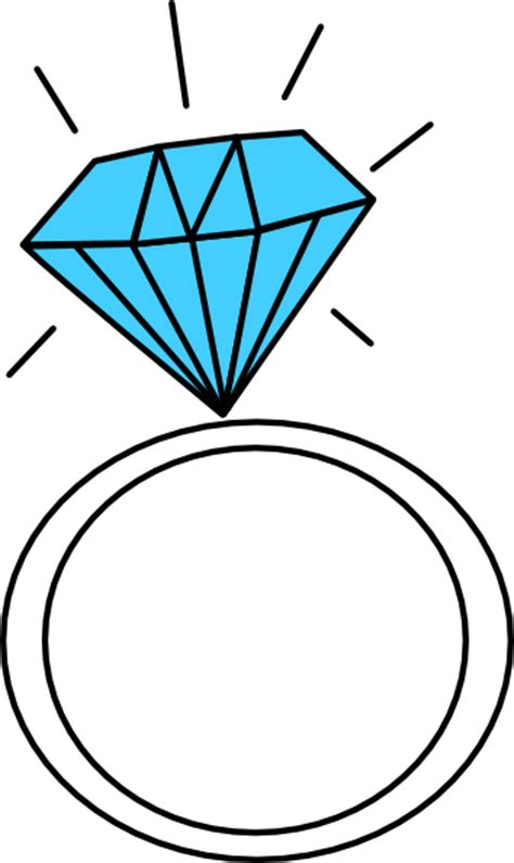 engagement ring clipart ring teal clip at clker vector clip