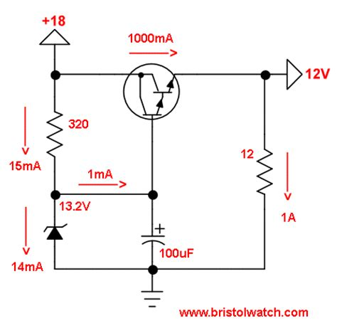 diode npn transistor zener diode regulator circuits