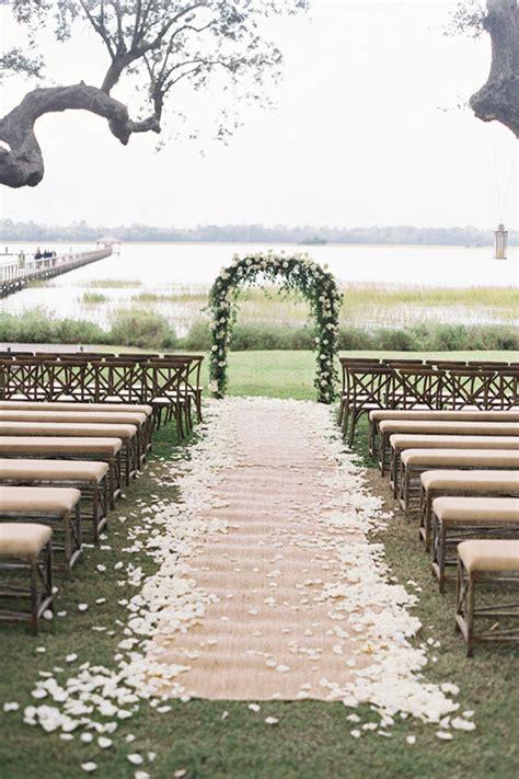 Wedding Aisle Runner Decorations by Burlap Wedding Decor Ideas Weddingelation