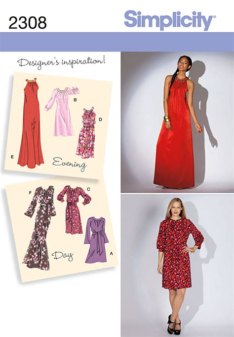 simplicity pattern website simplicity 2308 misses miss petite day to evening dresses