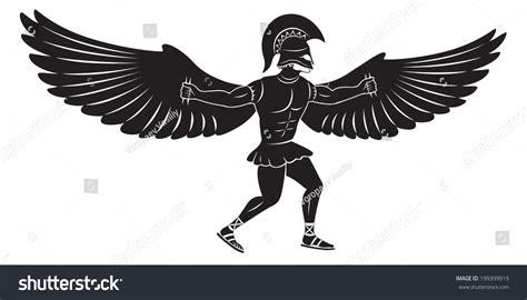 Figure Wings figure shows icarus wings stock vector 199399919