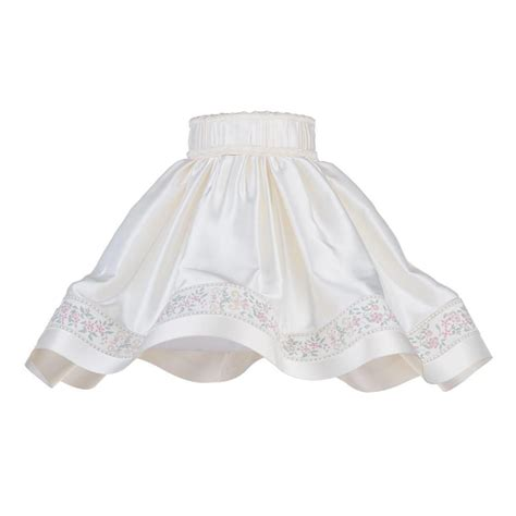 18 inch l shade 18 inch skirt easy to fit shade with floral stripe cream