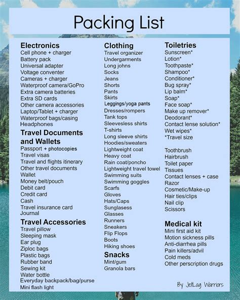 packing checklist the ultimate packing checklist jetlag warriors