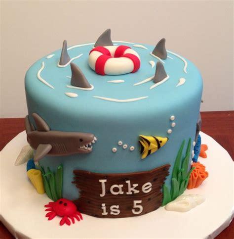 themed birthday cake recipes ocean shark themed cake inspired by several cakes on