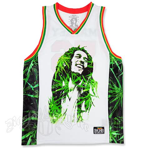 Jersey Design Reggae | bob marley leaves basketball jersey men s