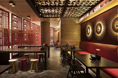 restaurants decor ideas chinese restaurant interior design idea with touched red