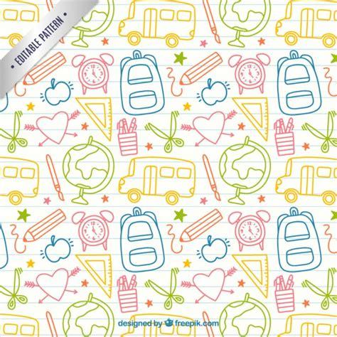 imagenes de fondo utiles escolares sketches school elements pattern free vectors ui download