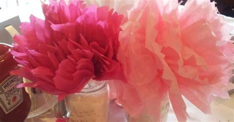 tissue paper centerpieces baby shower baby shower centerpieces jars and tissue paper poms