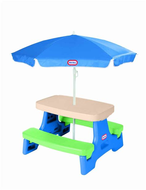 Tikes Easy Store Table by Tikes Easy Store Junior Table With Umbrella Only