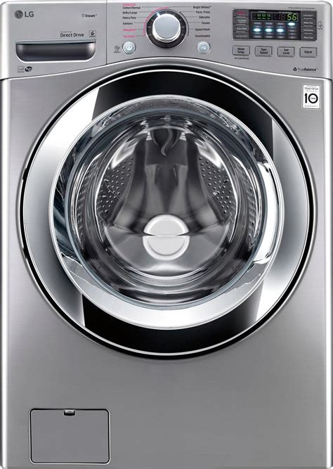 Lg Front Loading Washer Fc1207s3w lg 4 5 cu ft 14 cycle front loading washer black