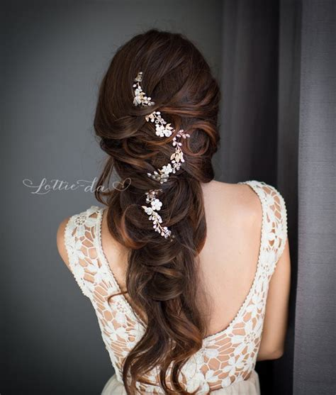hairstyles with hair vines 50 best bridal hairstyles without veil emmaline bride