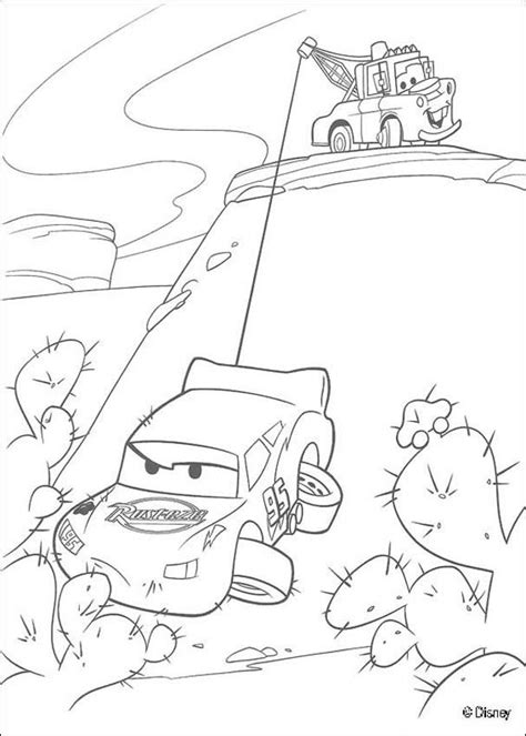 Mater Saves Lightning Mcqueen Coloring Pages Hellokids Com Mater And Lightning Mcqueen Coloring Pages