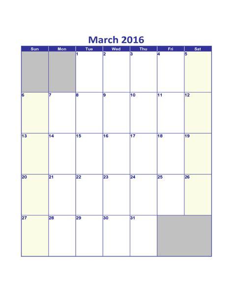 march calendar template march 2016 calendar template free