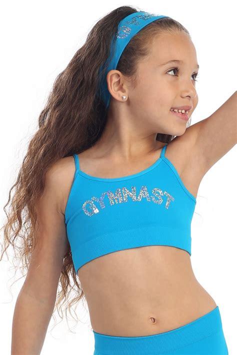 tween girl sexting pick bra and underwear kids gymnast sequin sports bra performance wear kurve