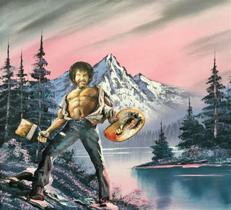 bob ross colors epic bob ross painting printed poster