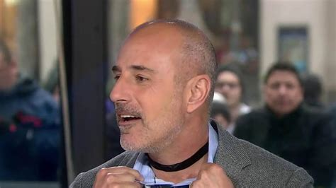 matt lauer unveils short haircut matt lauer wears choker on today show time