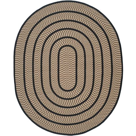Black Oval Area Rugs by Safavieh Braided Beige Black 8 Ft X 10 Ft Oval Area Rug