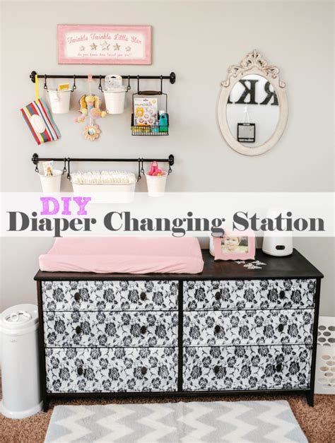 diy baby changing table diy baby changing station