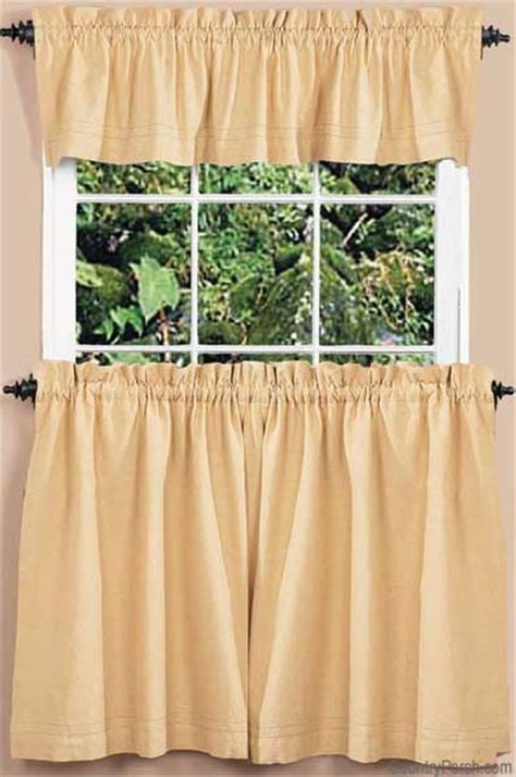 country home curtains homespun lined curtain valance