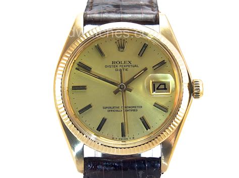 rolex oyster perpetual date 18k 1973 sorry now sold