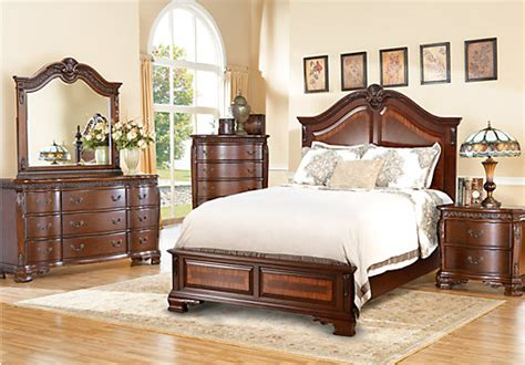 cortinella cherry 5 pc king panel bedroom bedroom sets