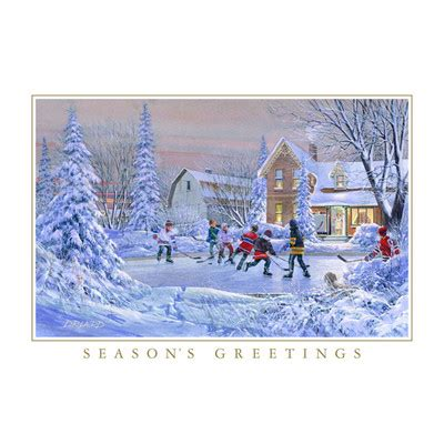 hockey themed birthday ecards game on greetings authentic pond hockey christmas cards 20