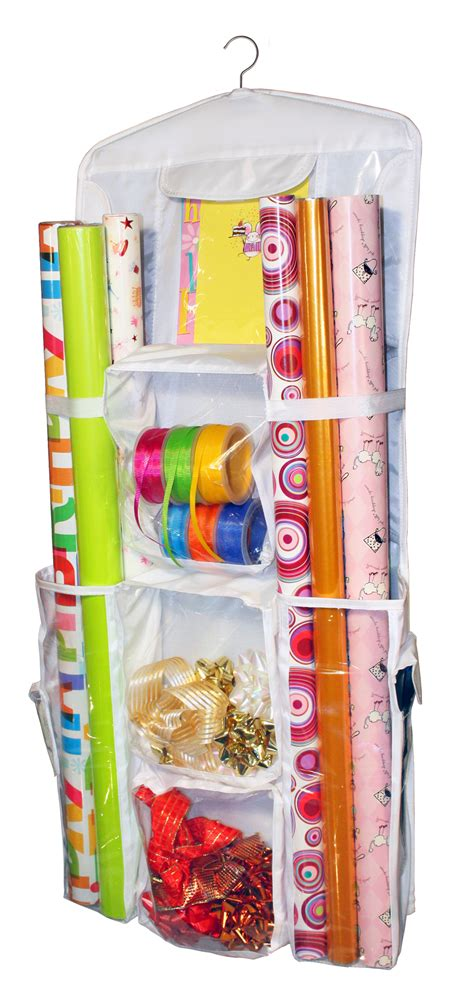 storage for gift wrapping paper hanging gift wrap organizer jokari jk 05070