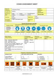 petrol coshh assessment example to download
